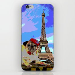 A Pug in Paris iPhone Skin