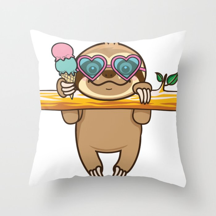 Sloth Hangout Throw Pillow