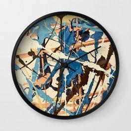 Miniature Original - blue brown Wall Clock