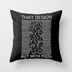 That Design but with Pizza Throw Pillow