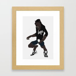 Monsters of our Time - Wolfman Framed Art Print
