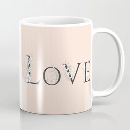 Love Floral Design Coffee Mug