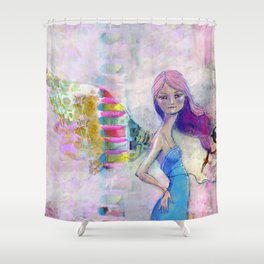 Perfect Little by Jane Davenport Shower Curtain