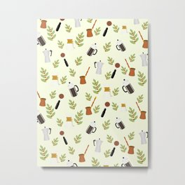 brewing pattern Metal Print