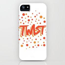 Twist N.18 Modele Rond iPhone Case