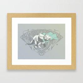 Fearless Creature: Frill Framed Art Print