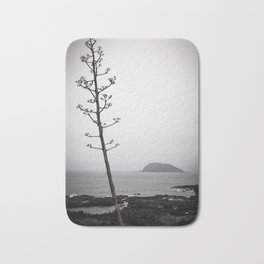 A Tree In The Fog , A Small Island In The Distance Bath Mat