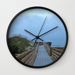 Dreary Days and Getaways Wall Clock