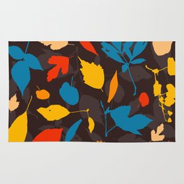 Seamless pattern with colorful autumn leaves Rug