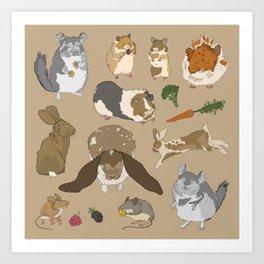 Small pets Art Print