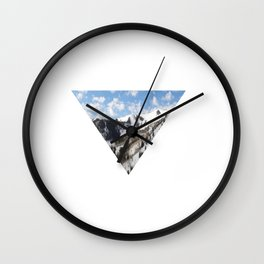 Back to the Mountains Wall Clock
