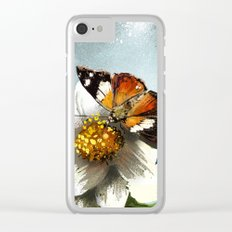 Butterfly on flower 12 Clear iPhone Case