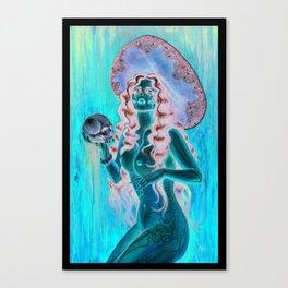 Day of the dead/ muertos pin up senorita Canvas Print