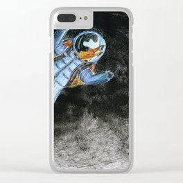 Snail in space Clear iPhone Case