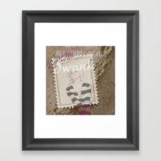 Swanky Stripes Framed Art Print