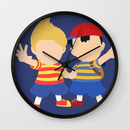 Ness&Lucas(Smash)Blue Wall Clock