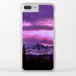 Chugach Mountains in Purple - II Clear iPhone Case