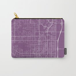 Scottsdale Map, USA - Purple Carry-All Pouch