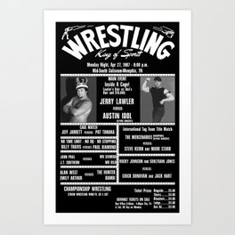 #10-B Memphis Wrestling Window Card Art Print