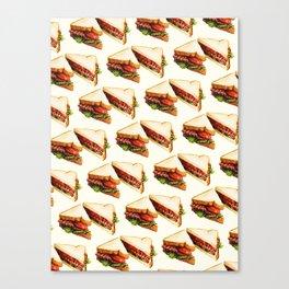 Sandwich Pattern BLT Canvas Print