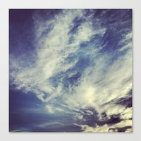 mexican Canvas Prints featuring Mexican sky by Olivier P.