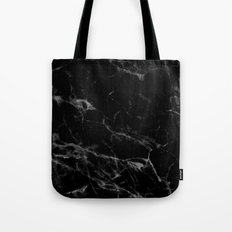 Black Marble Tote Bag