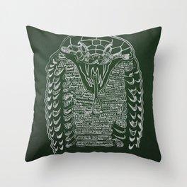 Slytherin Snake Throw Pillow