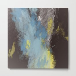 Breaking into the sky//yellow, brown, coffee, blue// Metal Print