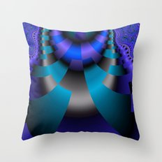 Blue Purple and black Abstract Throw Pillow