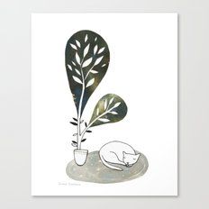Tiny Cat Canvas Print