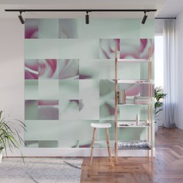 Pixel flower 7 Wall Mural