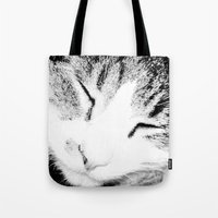 sleep Tote Bags featuring sleep by Sugarless Daydreams