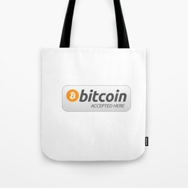 Accepted here: Bitcoin Tote Bag