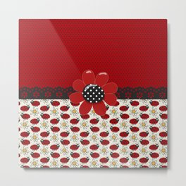 Cute Ladybugs  Metal Print