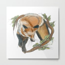 Jumping fox Metal Print