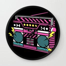 80s/Eighties Retro Music Boombox. Wall Clock