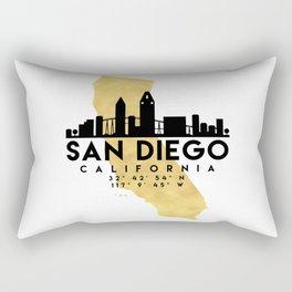 SAN DIEGO CALIFORNIA SILHOUETTE SKYLINE MAP ART Rectangular Pillow