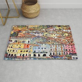 Gustav Klimt Malcesine on Lake Garda Rug