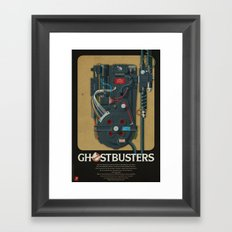 Proton pack, Ghostbusters Framed Art Print