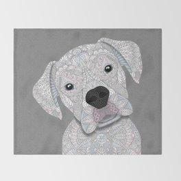 Cute White Boxer Throw Blanket