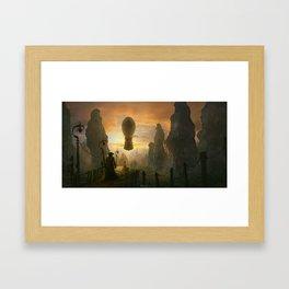 Return to the sky pirates cove Framed Art Print