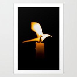 Fire Bird Candle Art Print