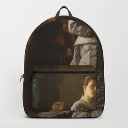 Singing a Pathetic Song Oil Painting by Thomas Eakins Backpack