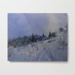 winter first comes in the mountain  Metal Print