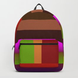 Multicolored geometric bands Backpack