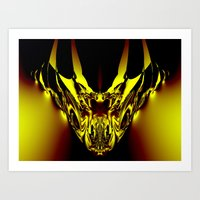 evil Art Prints featuring Evil by GC