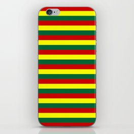 red green yellow stripes iPhone Skin