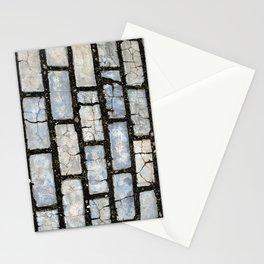 Blue Street Grid Stationery Cards