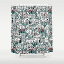 retro circus Shower Curtain