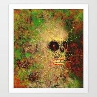 electric moss (I) Art Print